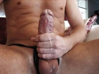 Nice size cock. Looks very suckable....mmmmmm