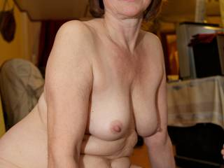 love to hang my cock and balls in her