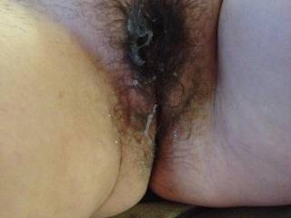 Mmm! I'd love to lick that up and then add a big load of mine deep inside her sexy pussy!