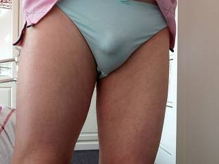 Wearing plain and simple panties today