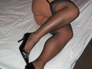 I love legs in nylon and yours are hot.  Would love them rubbing against me as we made love.