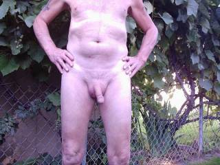 I love being naked in my backyard...I would enjoy yours too...lay out a  mattress and play all day...