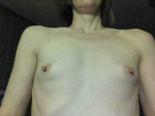 Tiny but fun tits of my friend Candy