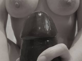 This thing is massive but with a soaking wet pussy and some lube she still gets it in and doesn't want to stop!