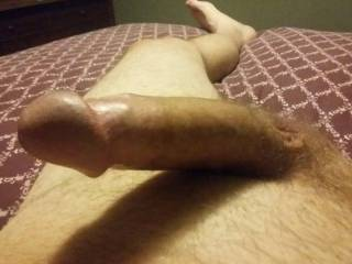 Just waiting on my girlfriend to come out of bathroom to ride my dick... Any ladies like to service my Dick too?