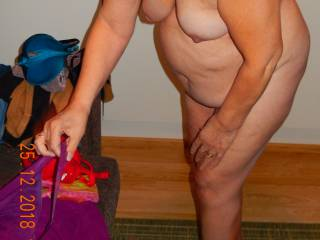 She is my 62 y/o wife.What you think about her mature body?