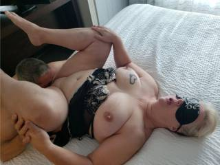 OMG!  He feasted on my pussy for a half hour and made me cum at least three times. I couldn\'t take it anymore!