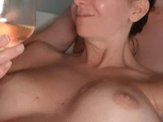 Wine and tits...