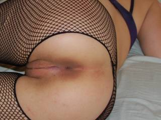 i would love to eat and fuck both of your holes while hubby fucks my ass then i could alternate fucking both of your assholes
