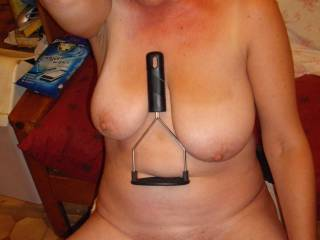 Ooh look the potato masher sits nicely between my boobs - can you think of anything else that would look good there?
