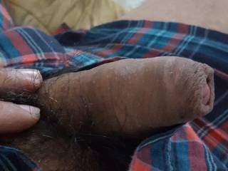 Playing with my hubby's short dick!
