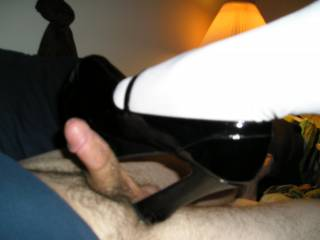 Hope she lets you cum all over those heels