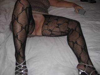 Do you have any idea how fantastic your legs are in those stockings!!