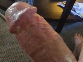 Was stroking and precum was flying all over the place