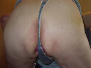 thong holding it in