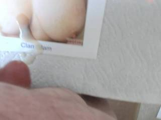 I need to relieve some quarantine stress and Clamglam was interested in me doing a tribute video for them.  Wish I could have gotten more cum on the tits.