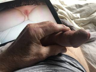 Had to stroke my dick as I imagined pushing the head of my cock inside funtimers.