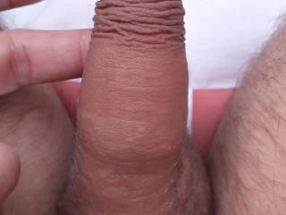 Showing off my tiny cold cock!  I love shrinking him in the cold!