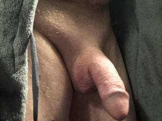 Flashing my swelling penis.