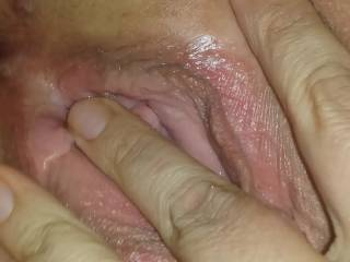 yummy we would love to eat your hot shaved pussy tell you cant cum anymore