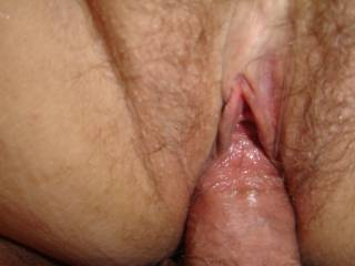 Gorgeous pussy. Looks so wet and sexy taking a thick cock!