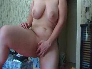 You are a VERY hot woman, lovely big boobs and so nice pussy. Great to watch you play with yourself. Let us see more of you. Thank you!