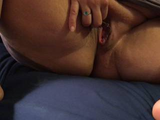My hubby had just finished cumming inside of me.