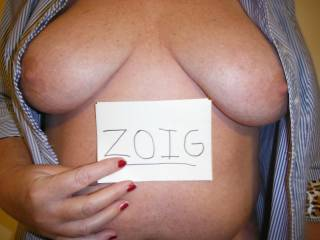 Wife showing her beautiful tits.  What do you think?
