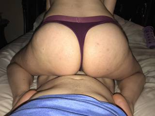 Bouncing that thick ass