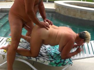 Look at her squirt as he pulled out.