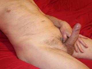 Veins clearly visible, foreskin easing back, glans moist....that can only mean that you are close by.