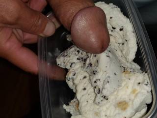 Playing with ice cream