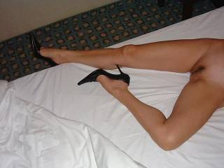 Always  been told I have pretty nice legs, don\'t mind showing them off a little in short skirts or dresses, and one of my 30+ pair of high heels.