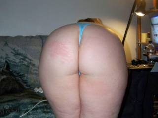 Here is her ass, if you look on the left cheek you can see were Sportluvr smacked her ass.