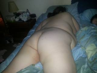 Love her soft body and shapely ass!