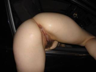 What a great shot! that is one sweet ass and pussy, love the hairy pussy especially, with all that cum on it makes me wet and crazy!