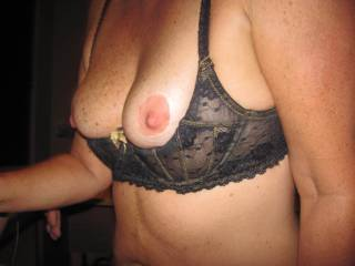 I just love looking at my wife's wonderful tits. All they need now is some hot, thick cum all over them. Any offers?