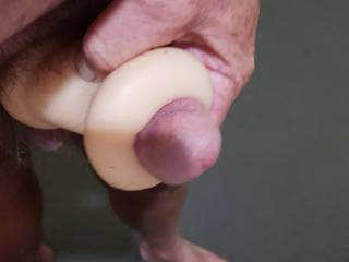 Fucking a pussy toy
