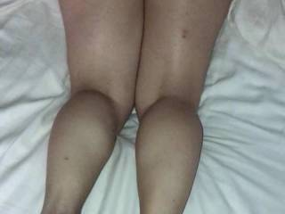 teasing me with her feet and fat ass. Her soles were begging for some cum - anyone care to contribute?