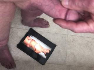 Enjoyed masturbating as I looked down on sexy frdk76.