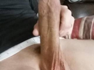 Taking a pic of my big hard cock