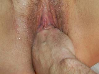 I love it when he does this and I always cum hard so look out it might get very wet ....