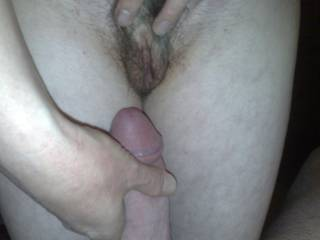 Mmm love to have your lovely wife wanking me while I suck her beautiful pussy