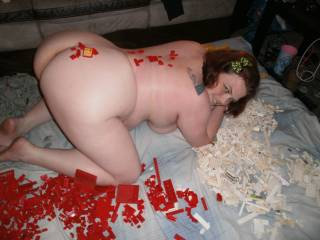 turning my whore girlfriend loose on my building blocks.slutty chaos ensues ;)