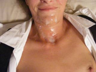 drenched in creamy cum