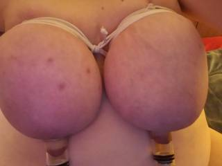 me with my tits tied and nipples suctioned