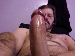 Damn. Now that's a REAL mans cock. I'd love to suck the cum right out of it !! ::::::::::::D OO
