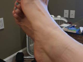 My Wifes pretty crossed set of feet 5 with arches