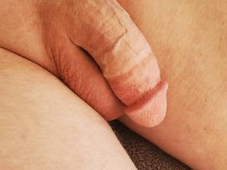 Beautiful white, impressive, soft, hanging, cock, dick, balls, ginger pubic hair