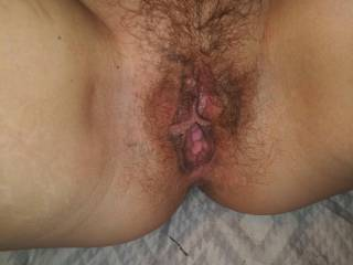 do u like her hairy well fuck pussy